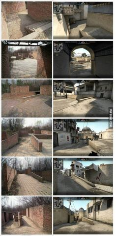 """After seeing """"short"""" a few days ago, I present you the whole thing: The Dust2 real life paintball arena"""