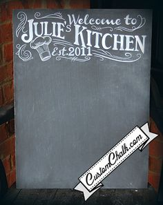 Personalized Kitchen chalkboard Sign Custom chalk by customchalk