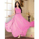 fabfiza-pink-velvet-georgette-semi-stitched-anrkali-gown