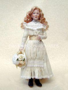 Doll dressed (Edwardian style) by Lisajohnsonrichards.com