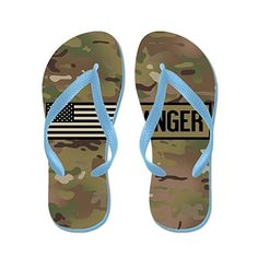 U.S. Army: Ranger (Camo) - Flip Flops Funny Thong Sandals Beach Sandals