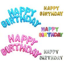 487ab222452b 40cm Happy Birthday Letters Balloons Aluminium Foil Balloon Helium Ballons  for Birthday Wedding Party Decor(