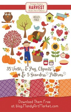 Free PNG EPS AI JPG Harvest Autumn Fall Festival Clipart