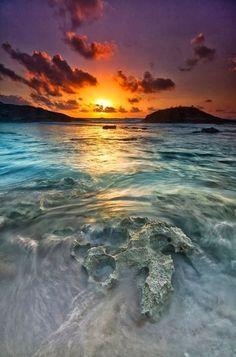 Island sunrise.