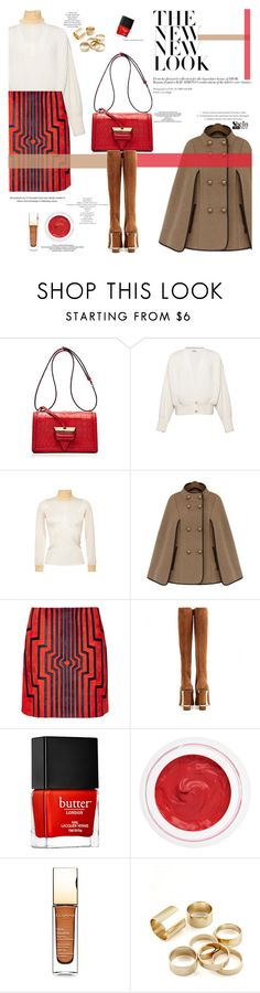 """""""Swinging times"""" by naki14 ❤ liked on Polyvore featuring mode, Loewe, Butter London, rms beauty et Clarins"""