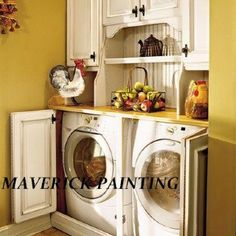 Id love Doors to hide my washer/dryer! Great idea! Must do!