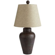 "Hammered Bronze Lamp for end tables. $65.00 each hammered bronze 24+"" tall."