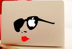 Macbook Decal Macbook Sticker Vinyl Laptop Skin for Apple Macbook Air Macbook Pro Retina Fashion Girl Macbook Air Stickers, Mac Stickers, Macbook Decal Stickers, Mac Decals, Sticker Vinyl, Phone Decals, Mac Book, Computer Skins, Apple Laptop