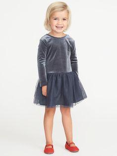 Velvet Scoop-Back Tutu Dress for Toddler Girls, adorable Christmas dress!   #affiliate