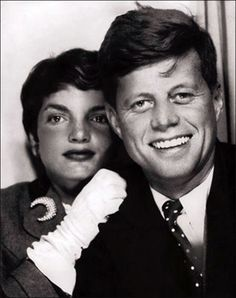 Nostalgia-Inducing Photo Booth Snaps of Famous People  by Emily Temple.  Jackie Kennedy and John F. Kennedy. Photo via.