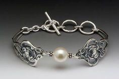 Silver Spoon Pearl Bracelet - Verona #SSJ