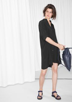 & Other Stories image 2 of Oversized Shirt Dress in Black