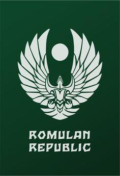 Star Trek Logo Flat Design Romulan Republic (Mirror)