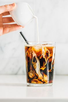 Our Peanut Butter Iced Latte is the coffee of your dreams. No frother? This recipe will be your new go-to coffee drink no matter the time. Iced Latte, Iced Coffee, Coffee Drinks, Coffee Cups, Coffee Love, Coffee Break, Coffee Shop, Pb2 Recipes, Coffee Recipes