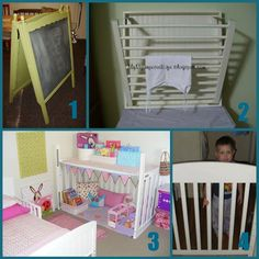repurpose crib | Chalkboard Easel from The Red Kitchen Drying Rack from My Repurposed ...