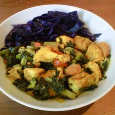 Chicken and Kale Curry.