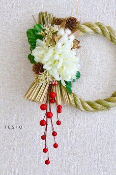 全部セリアで作る♪お正月しめ縄飾り : かわいいおべんとう。
