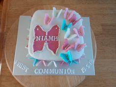 First Communion, Birthday Cake, Cakes, Desserts, Food, First Holy Communion, Tailgate Desserts, Deserts, Cake Makers
