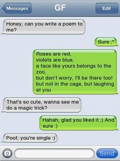 Funny Texts Pranks, Text Pranks, Funny Poems, Funny Texts Jokes, Text Jokes, Stupid Funny Memes, Funny Quotes, Funny Fails, Stupid Texts