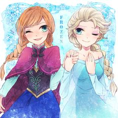 frozen anna and elsa Frozen Anime, Frozen Disney, Frozen Movie, Elsa Anime, Hipster Princess, Disney Princess Art, Disney Art, Disney Pixar, Disney Princesses