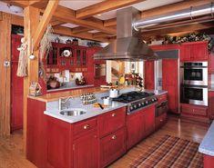 red kitchen - Buscar con Google