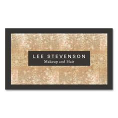 Gold Sparkly FAUX Sequins Makeup Artist Salon Business Card The post Gold Sparkly FAUX Sequins Makeup Artist Salon Business Card Zazzlecom appeared first on Woman Casual - Makeup Recipes Fashion Business Cards, Beauty Business Cards, Salon Business Cards, Gold Business Card, Hairstylist Business Cards, Makeup Artist Business Cards, Custom Business Cards, Business Card Design, Creative Business