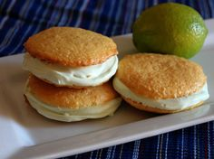 Blogger Jessica Walker from Lil Miss Bossy shares a recipe for sweet and tart whoopie pies that taste just like Key lime pie!
