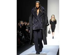 The trend: Great Coats  Keep cosy and look cool by wearing two coats together, as seen at Max Mara.