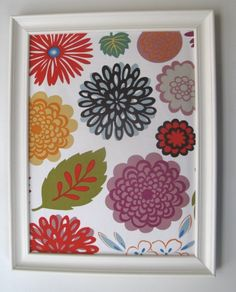 Fabric-covered bulletin board...cute with a frame