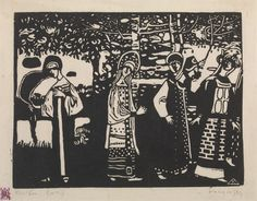 Collection Online | Vasily Kandinsky. Women in the Woods (Frauen im Wald). 1907 - Guggenheim Museum