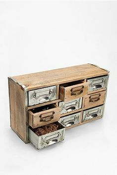 Reclaimed Card Catalog Organizer Cabinet So vintage and pretty looking @Urban Outfitters