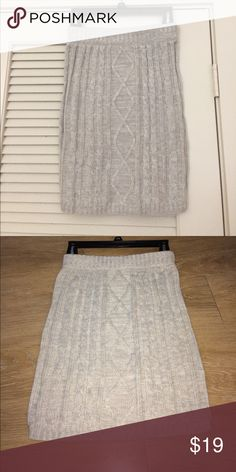 GB (Gianni Bini) cable knit skirt Gianni Bini cable knit skirt in grey -- only worn once! Gianni Bini Skirts Mini