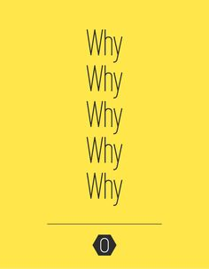 A Creative Brand Strategy starts with asking yourself the why question, 5 times   OCHER