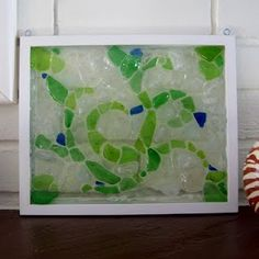 Sea glass windows....don't buy them use a sturdy picture frame and glue the sea glass to the pane glass with clear glass glue