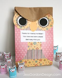 Owl Miss You Teacher Gift