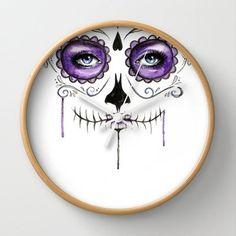 Society6 - Purple Sugar Skull Wall Clock by Robin Ewers Society6 http://www.amazon.com/dp/B00NAEKE54/ref=cm_sw_r_pi_dp_v0ePub1QG1Z8X