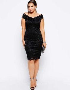 Gorgeous Elegant Black Dress Plus Size Ideas : 70 Outfit Style High Street Fashion, Fashion In, Plus Size Fashion, Fashion Dresses, Fashion Styles, Fashion Women, Plus Size Lace Dress, Plus Size Party Dresses, Plus Size Dresses