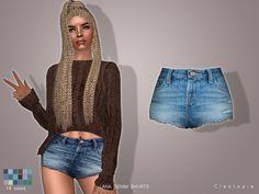 LANA denim shorts at Cleotopia via Sims 4 Updates
