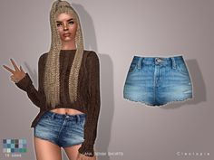LANA denim shorts at Cleotopia via Sims 4 Updates