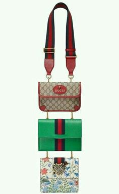 b11a76f8c50 Gucci Totem Four-in-One Leather   Canvas Shoulder Bag