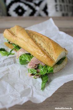 Ein Super Sandwich mit Schinken und Weißkohl