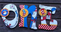 Dr. Seuss Names or Numbers by LilysLetters on Etsy, $16.00 Cute for Birthday Party or Photo Shoot