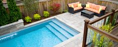 Jameson Pool and Spa: Galeriestufen und Fechten . Small Backyard Pools, Backyard Pool Landscaping, Backyard Pool Designs, Small Pools, Swimming Pools Backyard, Pergola Patio, Cheap Inground Pool, Cheap Pool, My Pool