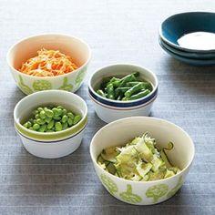 野菜の付け合せ 4種(レシピ:ゆとりの空間)