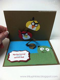 Angry birds slider card intside