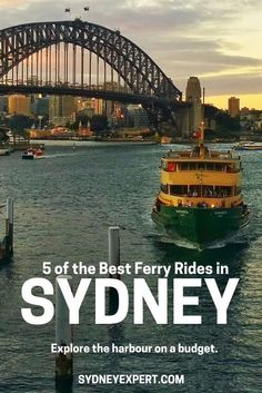 One of the best ways to experience Sydney is from the deck of a public ferry. These are my five favourite ferry trips that will help you to explore the city without blowing the budget. Brisbane, Melbourne, Perth, Australia Travel Guide, Visit Australia, Sydney Australia, Western Australia, Australia Trip, Victoria Australia