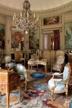 Musée Nissim de Camondo, a beautiful small museum of French decorative arts in an hôtel particulier (private mansion) overlooking the Parc Monceau. Georgian Interiors, French Interiors, Interior Decorating, Interior Design, Classic Interior, French Furniture, Furniture Design, French Decor, Victorian Homes