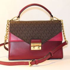 Items for sale by ivans_shop_source Designer Purses And Handbags, Purses And Bags, Pink Sale, Black Satchel, Handbags Michael Kors, Color Black, Medium, Brown, Stuff To Buy