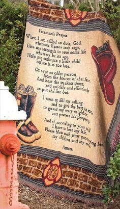 A Fireman Prayer Firefighter Tapestry Throw Blanket 50 x 60 In   eBay