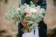 Air plant bouquet   Irinia Kilmova Photography   see more on: http://burnettsboards.com/2015/03/winter-forest-wedding/
